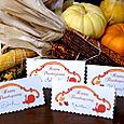 Free Thanksgiving Place Setting Cards