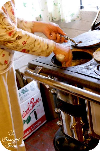 Nana at stove