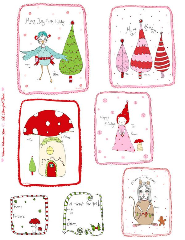 A fanciful twist free printable holiday gift tags treats all a fanciful twist free printable holiday gift tags treats all over the place fun negle Gallery
