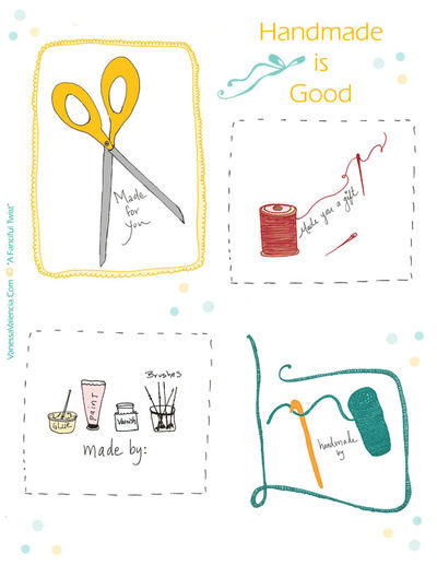 Handmade gift tags for blog Sheet