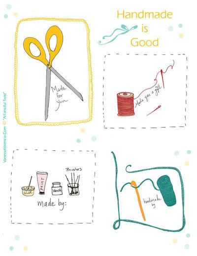 Handmade gift tags for blog Sheet