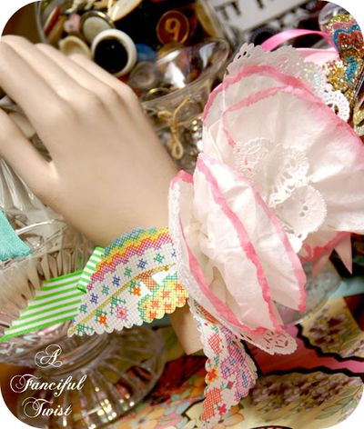 Coffee filter corsage 19