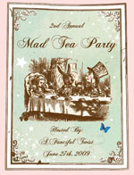 Mad Tea Party 2009 Button