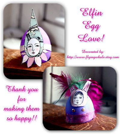 Elfin eggs Decorated by Flying whale