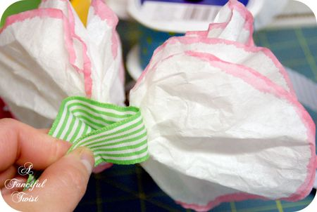 Coffee filter corsage 13