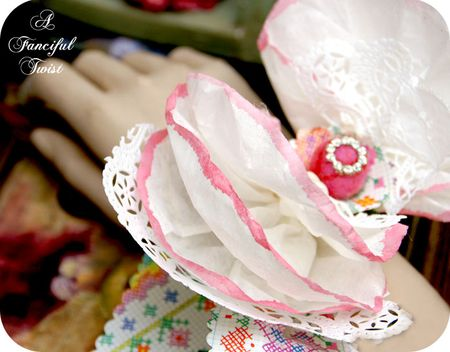 Coffee filter corsage 16
