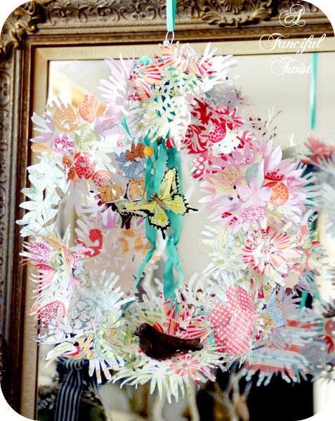 Paper flower chandelier 2