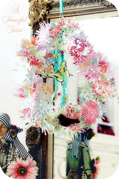 Paper flower chandelier 4