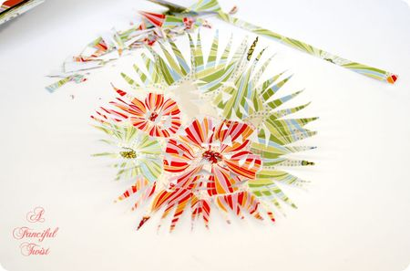 Paper flower chandelier 17