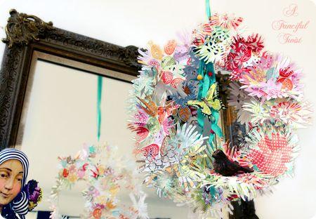Paper flower chandelier 20