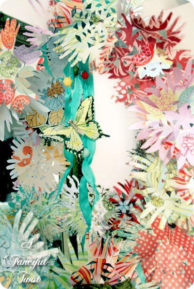 Paper flower chandelier 21