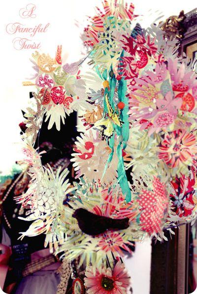 Paper flower chandelier 22