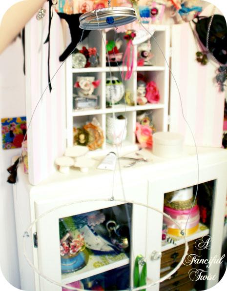 Paper flower chandelier 16