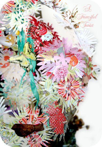 Paper flower chandelier 6