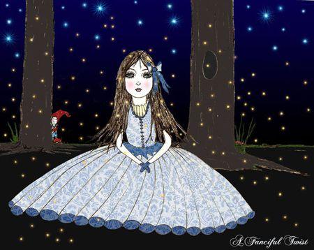 W Firefliy magic, the evening she awaited.