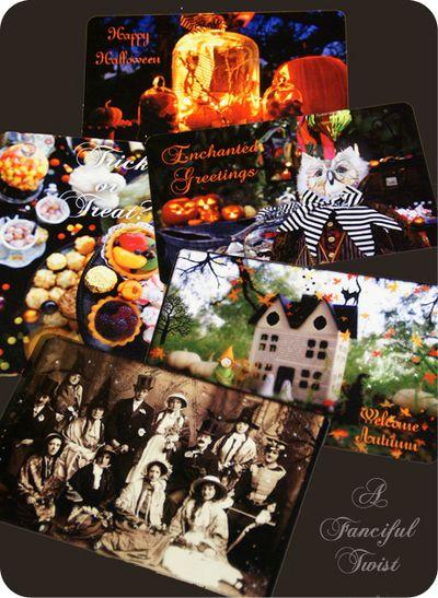 Magical Halloween cards 2