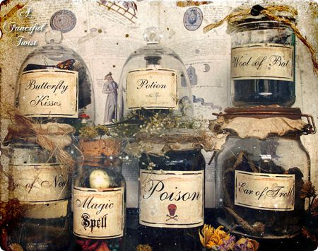 A Fanciful Twist: Potions & Spell Labels & Halloween Cards, Oh My!