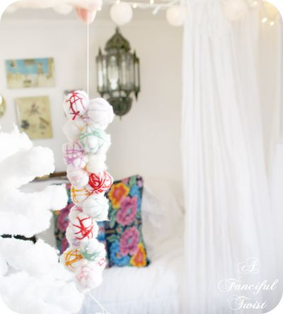 Cotton ball garland 7