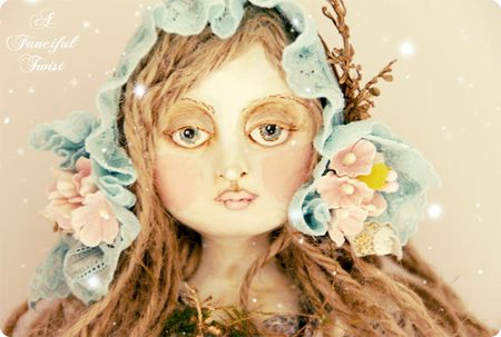 Girl with Basket of Botanicals 4 vintage