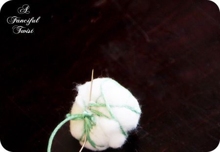 Cotton ball garland 1