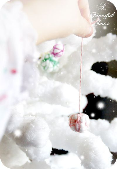 Cotton ball garland 8