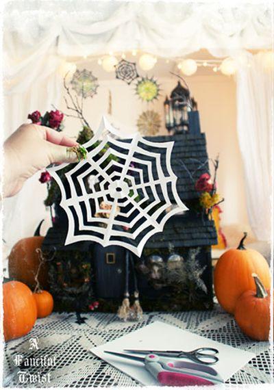 Paper spider web 25