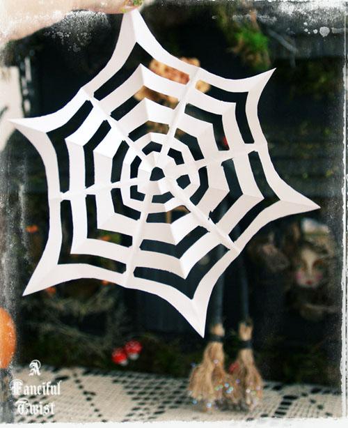 Paper spider web 18