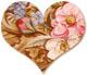 A fanciful twist heart