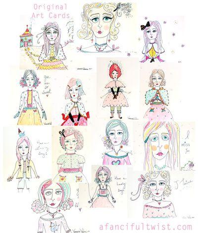 A Fanciful Twist Original Art Cards April 2010