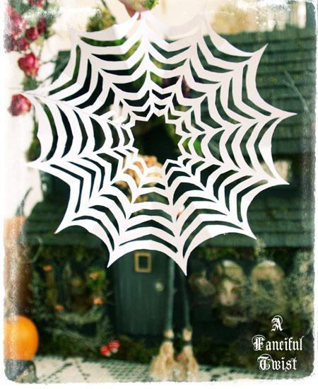Paper spider web 36