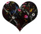 Dark flower heart