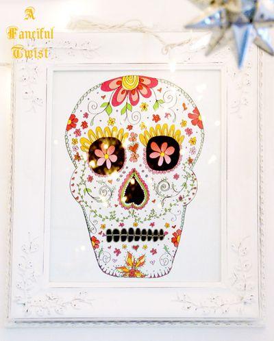 Skull Illustration colrful