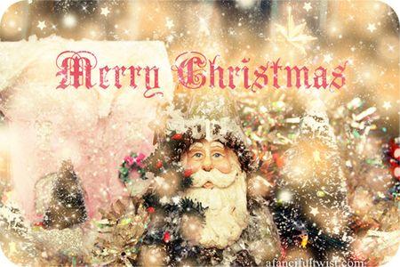 Merry Christmas Santa Front