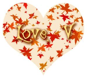 A fanciful twist autumn heart