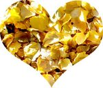 Golden leaf heart