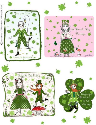 A fanciful twist st patrick's day cards