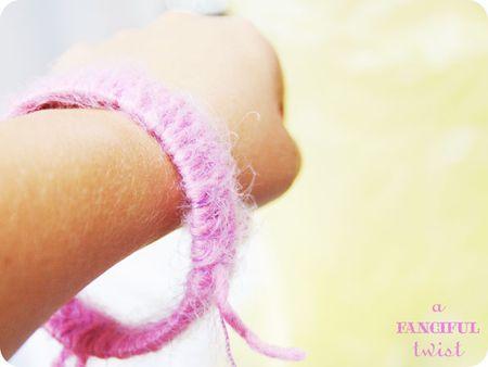 Yarn bracelets 2