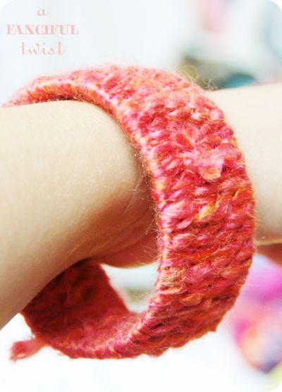 Yarn bracelets 3