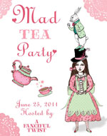 Mad Tea Party 2011 Button