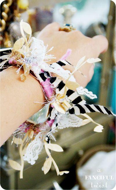 Yarn bracelets 13