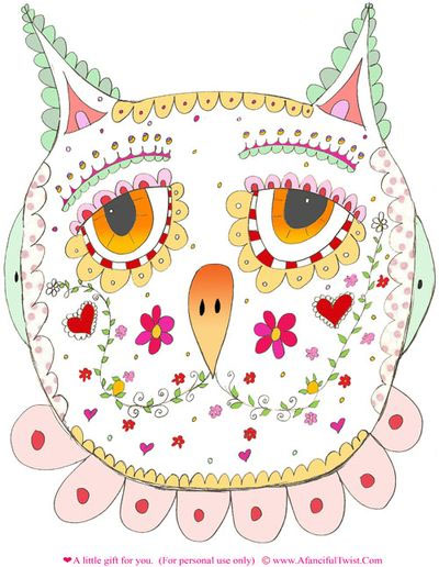 Paper Owl Mask