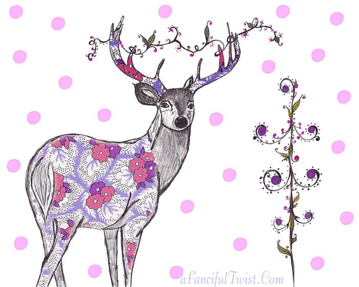 Lovely Deer Print