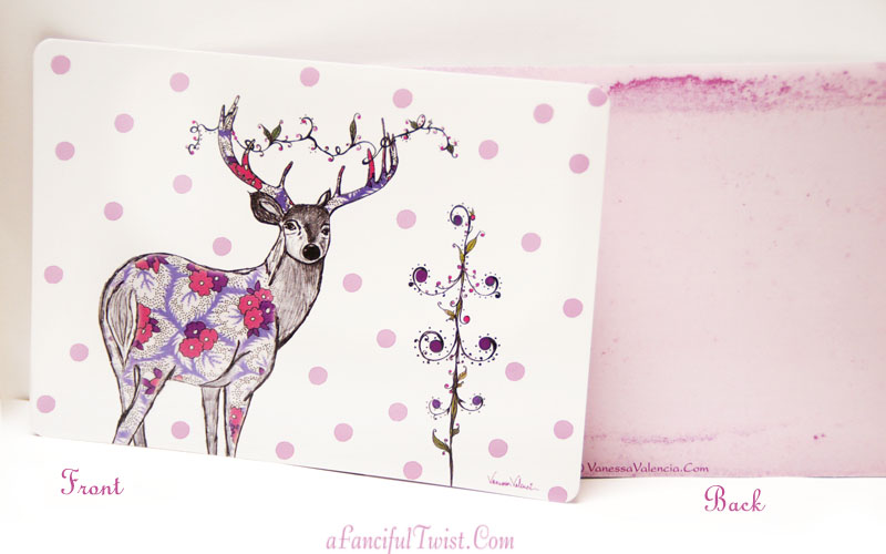 Lovely Deer Photo Front and Back