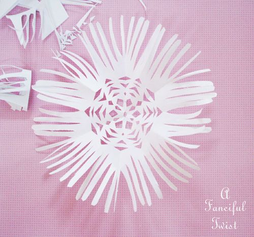 Paper snowflakes 43a