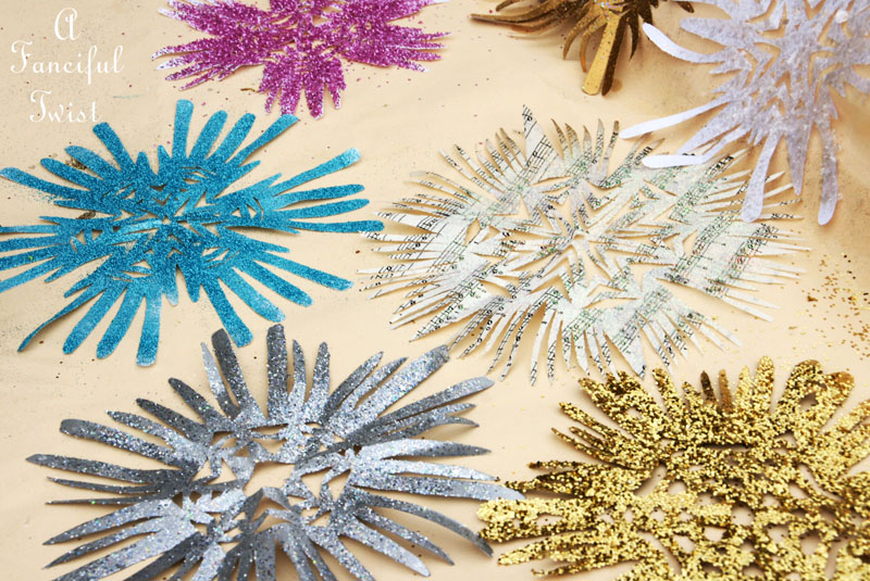 Paper snowflakes 12a