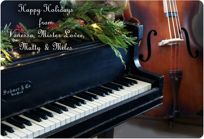 Happy Holidays from all of us at A Fanciful Twist copyright photo Vanessa Valencia