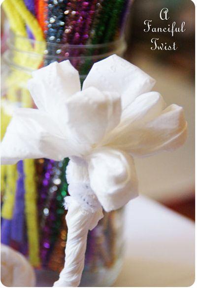 Toilet paper flowers 16