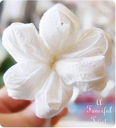 Toilet paper flowers 13