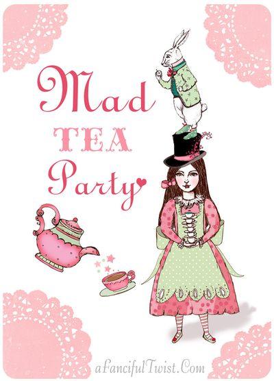 Mad Tea Party Invitation