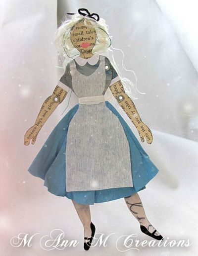 M ann m creation alice paper doll